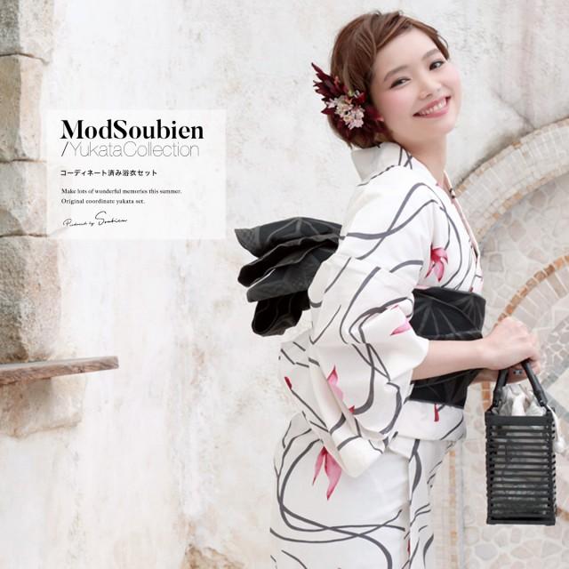 【bonheur saisonsの浴衣3点セット】生成り色/白/...
