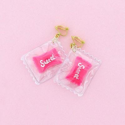 ピンク/キャンディモチーフイヤリング