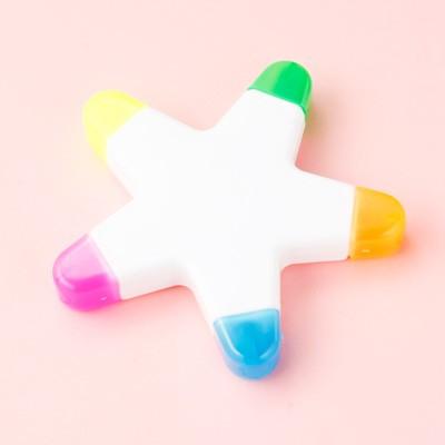 星型/5色蛍光ペン