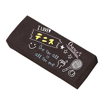 テニス手書き風イラスト/黒消しゴム