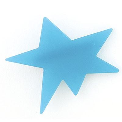 水色/変形星のヘアクリップ