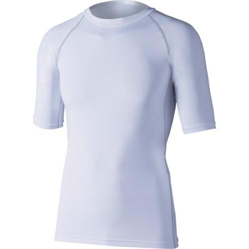 おたふく手袋 JW628WHM おたふく 冷感・消臭パワーストレッチ半袖クルーネックシャツ ホワイト M
