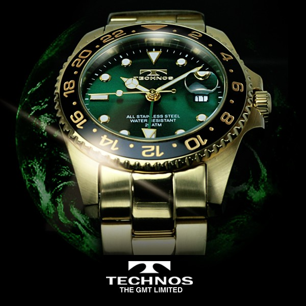TECHNOS テクノス GMT 限定モデル メンズ 腕時計 ...