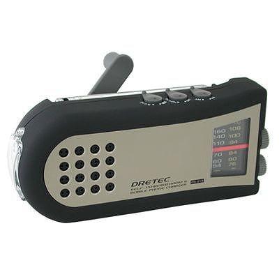 ドリテック 手回しケータイ充電ラジオ PR-318BK