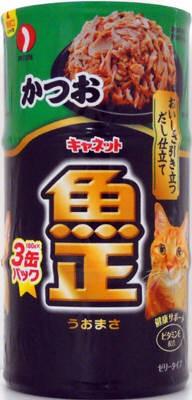 キャネット 魚正 かつお 160g×3缶