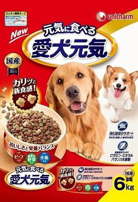愛犬元気 ビ−フ・緑黄色野菜・小魚6.0kg