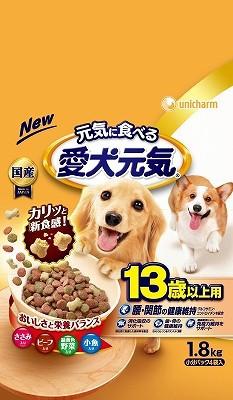 愛犬元気13歳以上ささみビ−フ野菜小魚1.8k...