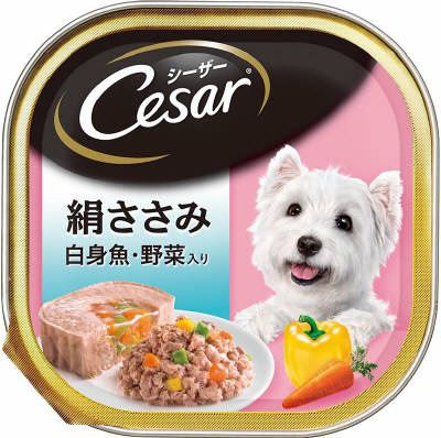 シーザー 絹ささみ 白身魚・野菜入り 100g...