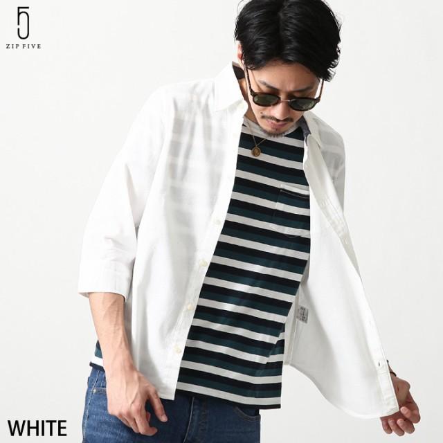 【17102】カジュアルシャツ メンズ/シャツ 7分袖 ...