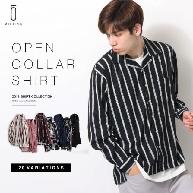 【17110】カジュアルシャツ メンズ/オープンカラ...