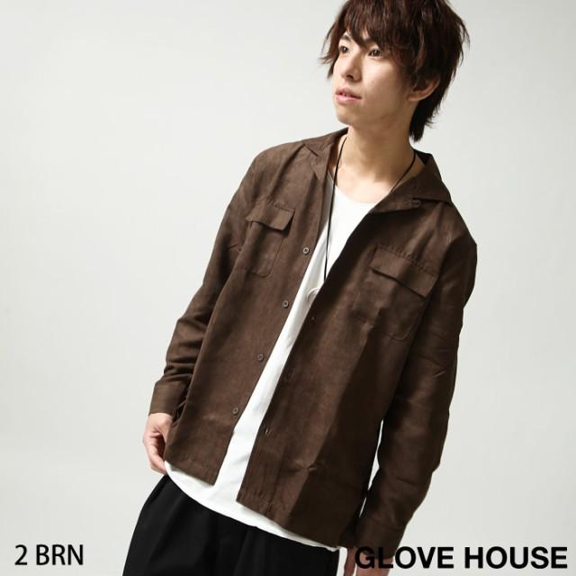 【18021】カジュアルシャツ メンズ/オープンカラ...
