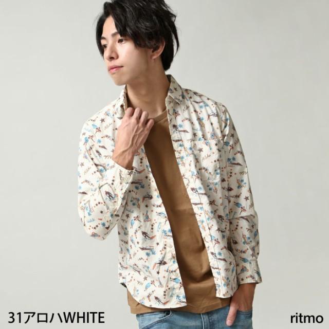 【18pt001】カジュアルシャツ メンズ/シャツ 長袖...