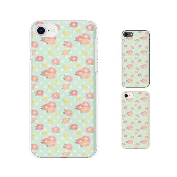 Apple iPhone8 (4.7インチ) スマホ ケース ハード カバー アイフォンケース 花柄36 ドット 黄緑