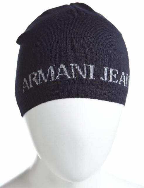 アルマーニジーンズ【ARMANI JEANS/アルマーニ・ジーンズ】ニットキャップネイビ(U6803 D1 SCP)