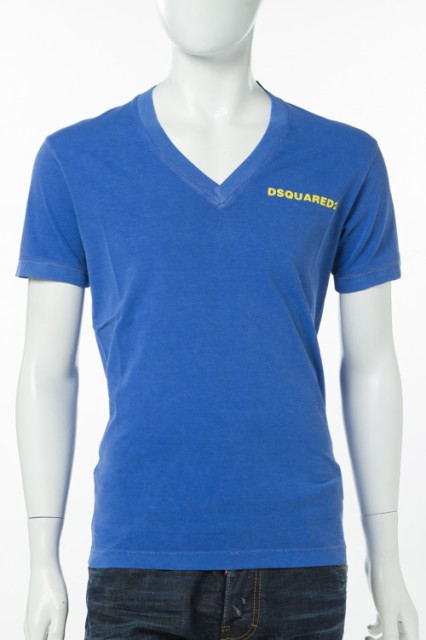 2017年春夏新作 ディースクエアード DSQUARED2 Tシャツ メンズ (S74GD0203S20694)ブルー