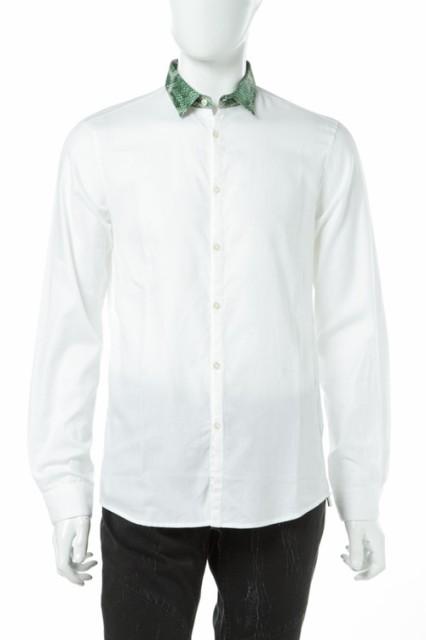 2017年春夏 ジャストカヴァリ JUST CAVALLI シャツ ドレスシャツ カジュアル メンズ DL0092 37543 ホワイト