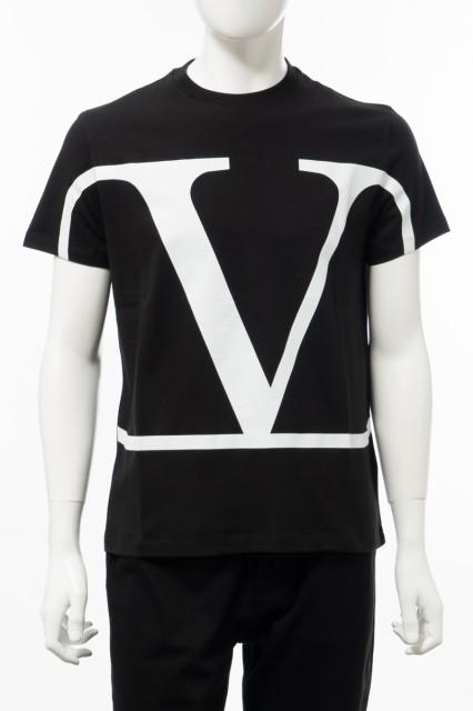 品質一番の ヴァレンティノ メンズ クルーネック Valentino 送料無料 Tシャツ 半袖 丸首 クルーネック ブラック メンズ (TV3MG02T5F6) 送料無料 2020年春夏新作, 家具倶楽部:beb02da7 --- ballettstudio-gri.de