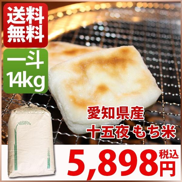 米 愛知県 白米 もち米 十五夜もち 14kg 1斗 平成29年産 北海道・沖縄・一部地域は出荷不可のためキャンセル対応