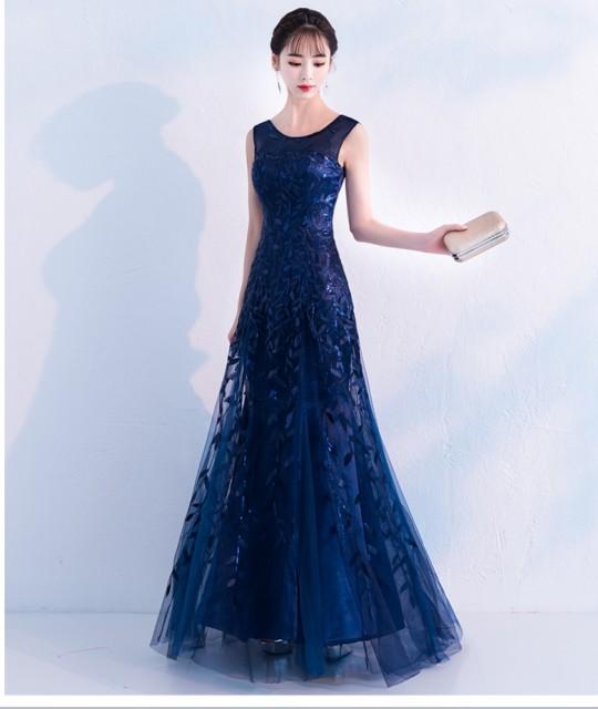 レトロ柄 ワンピース 結婚式 ドレス パーティードレス お呼ばれ ワンピース ローブデコルテ 刺繍 フィッシュテール 上品 エレガント きれ