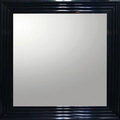 ユーパワー デコラティブ大型ミラー シャープ 正方形 BM-16021 ブラック(1コ入)(発送可能時期:3-7日(通常))[鏡]