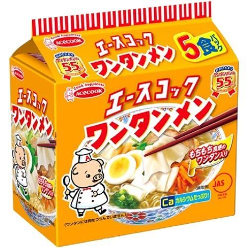 エースコック ワンタンメン 袋(5食)(発送可能時期:3-7日(通常))[袋麺]