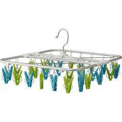 コグレ 室内干しハンガー30 グリーン&ブルー(1コ入)(発送可能時期:3-7日(通常))[洗濯ばさみ]
