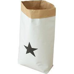 日本の米袋屋さんがつくった北欧風ペーパーバッグ STAR 星柄 YGK-1(1枚入)(発送可能時期:1週間-10日(通常))[収納]