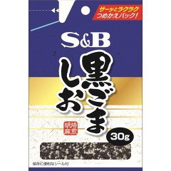 袋入り黒ごましお(30g)(発送可能時期:3-7日(通常))[香辛料]