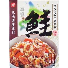 北海道素材 炊き込みご飯の素 鮭(180g)(発送可能時期:3-7日(通常))[混ぜご飯・炊込みご飯の素]