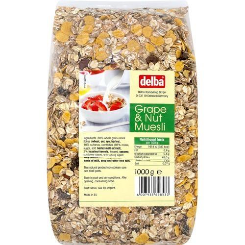 デルバ グレープ&ナッツミューズリー(1kg)(発送可能時期:1週間-10日(通常))[シリアル]