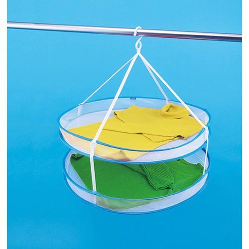 折りたたみいろいろ物干しネット 2段(1コ入)(発送可能時期:3-7日(通常))[洗濯ネット]