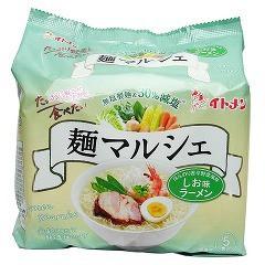麺マルシェ 減塩しお味ラーメン(5食入)(発送可能時期:2週間以上)[袋麺]