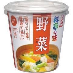 カップ料亭の味 野菜(1コ入)(発送可能時期:1週間-10日(通常))[インスタント味噌汁・吸物]