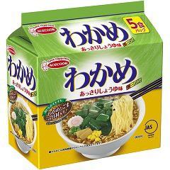 エースコック わかめラーメン あっさりしょうゆ味 袋(5食)(発送可能時期:3-7日(通常))[袋麺]