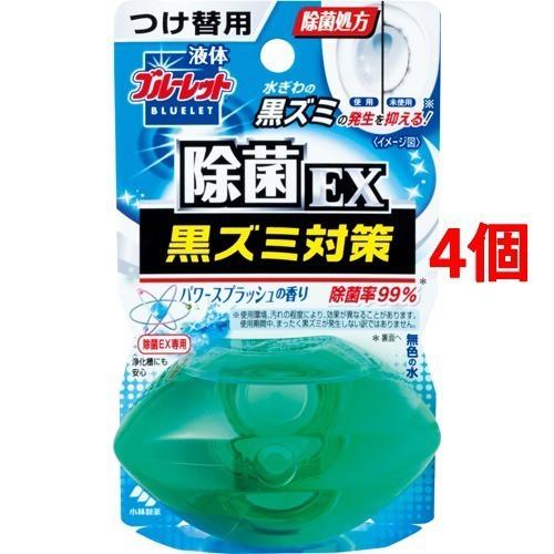 液体ブルーレットおくだけ 除菌EXつけ替用 パワースプラッシュ(70mL*4コセット)(発送可能時期:1週間-10日(通常))[芳香洗浄剤 設置タイプ]
