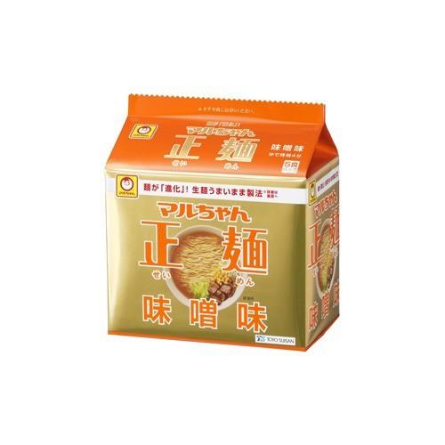 マルちゃん 正麺 味噌味(5食入)(発送可能時期:3-7日(通常))[袋麺]