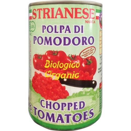ストリアネーゼ 有機トマト缶 カット(400g)(発送可能時期:2週間以上)[野菜加工缶詰]