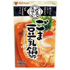 ミツカン 〆まで美味しいごま豆乳鍋つゆ ストレート(750g)(発送可能時期:3-7日(通常))[つゆ]