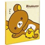 【フエルアルバムDigio ビス式/Lサイズ/プラコート台紙 リラックマ/A柄 ア-LP-133-1】
