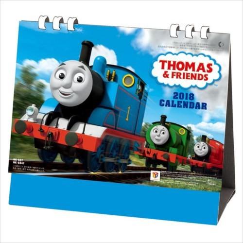 取寄品 卓上 きかんしゃトーマス カレンダー 2018 年 デスクトップ型 15×18cm平成30年 暦 メール便可