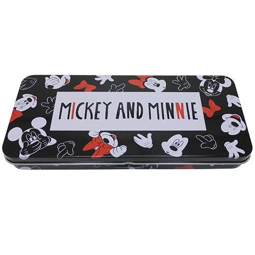 ミッキー&ミニー 缶ペンケース フラットカンペン 2020年新入学 ディズニー キャラクター グッズ