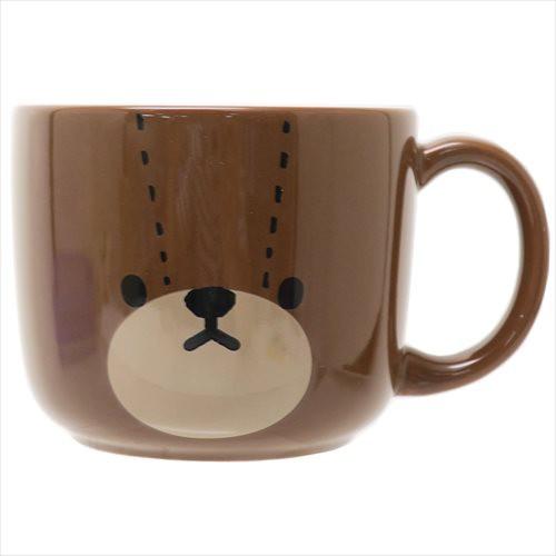 くまのがっこう マグカップ 磁器製マグ フェイス 絵本キャラクター グッズ