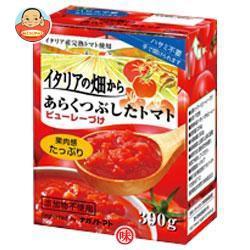 【送料無料】ナガノトマト イタリアの畑から あらくつぶしたトマト ピューレーづけ 390g×12箱入