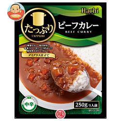【送料無料】ハチ食品 たっぷりビーフカレー 中辛 250g×20個入