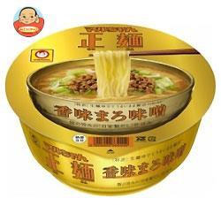 【送料無料】東洋水産 マルちゃん正麺 カップ 香味まろ味噌 123g×12個入
