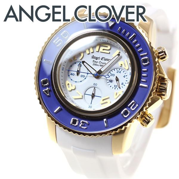 57c569a0ff エンジェルクローバー Angel Clover 腕時計 メンズ シークルーズ SEA CRUISE ダイバーズウォッチ クロノグラフ SC47YBU-