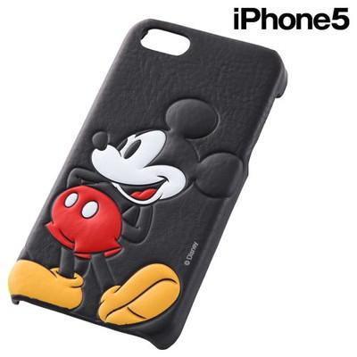 c5e2e195e2 ☆ ディズニー iPhone SE / 5S / 5 専用 オープンレザージャケット(合皮 ...