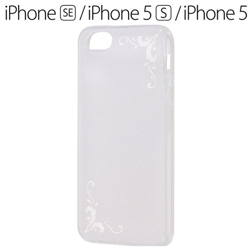 9cbb150249 iPhone SE / 5S / 5 専用 TPUソフトケース ジュエラ ホワイト RT-P11C6