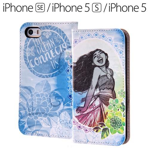 266a507f30 ディズニー モアナと伝説の海 iPhoneSE iPhone5s iPhone5 専用 スマホブックカバーケース (