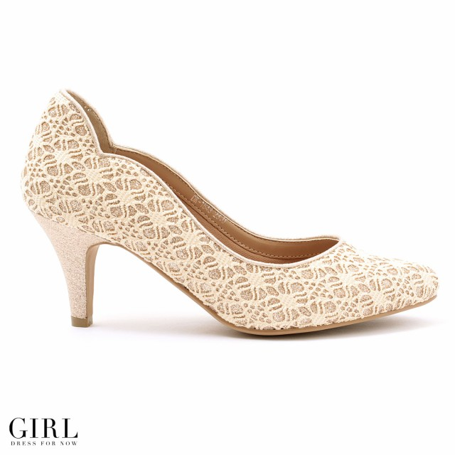 パンプス シューズ レディース 靴 大きいサイズ 結婚式 パーティー 柔らか 歩きやすい 痛くない レース オフィス 謝恩会 卒園式 二次会